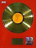 Inscribed with the words: Presented to Recognise Sales in The United Kingdom of the RCA LP Ziggy Stardust by David Bowie